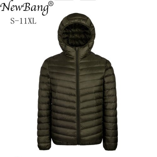 NewBang Plus 9XL 10XL 11XL Down Coat Male Large Size 90% Ultra Light Down Jacket Men Lightweigh Warm Coat Hooded Feather Parka
