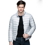 New Autumn Winter Man Duck Down Jacket Ultra Light Thin Plus Size Spring Jackets Men Stand Collar Outerwear Coat