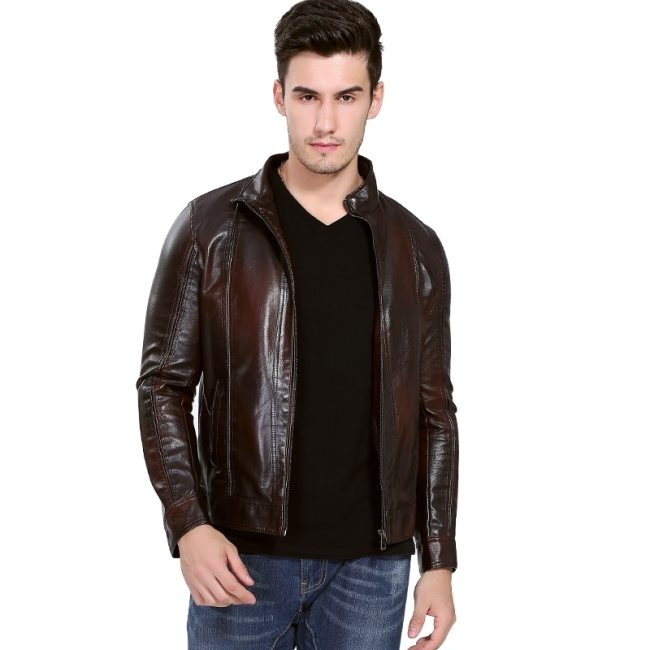Motorcycle Leather Jacket Men 2018 Autumn Winter Men's Leather Jacket jaqueta de couro masculina Mens leather Jackets Coats 5XL
