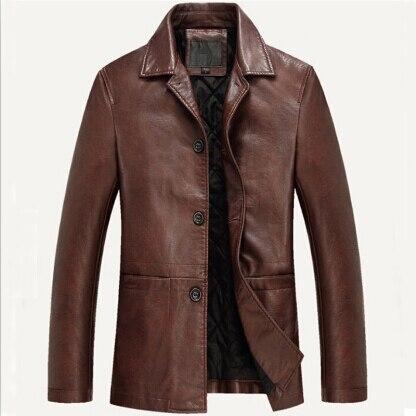 Leather Jacket Men Soft PU Leather Jacket Male Business casual Coats Man Jaqueta Masculinas Inverno Couro Large size XXXL 4XL