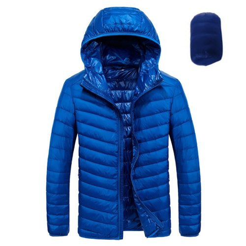 2019 Winter Jacket Men Autumn 90% White Duck Down Winter Coat Men Ultralight Warm Down Hooded Jacket Male Windproof Parkas