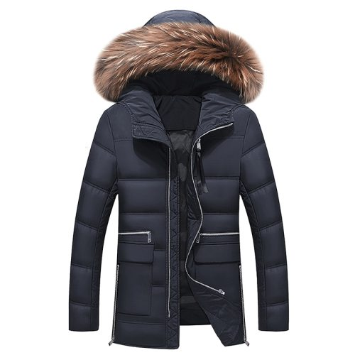 2019 New Winter Jacket Men Big Real Fur Collar Hooded Duck Down Jacket Thick down jacket men warm coat 2XL 3XL 027