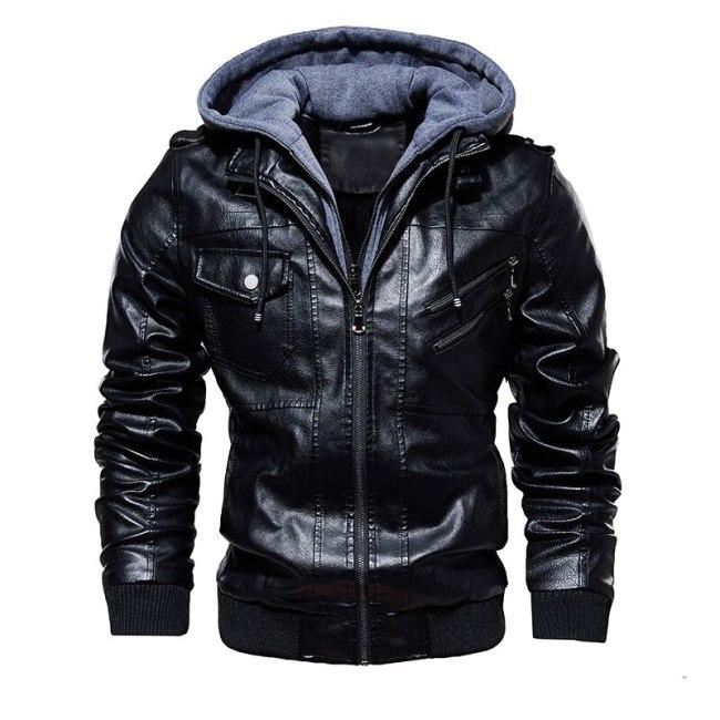 Fashion Motorcycle Leather Jacket Men   Autumn Winter Leather Jackets Dropshipping European size