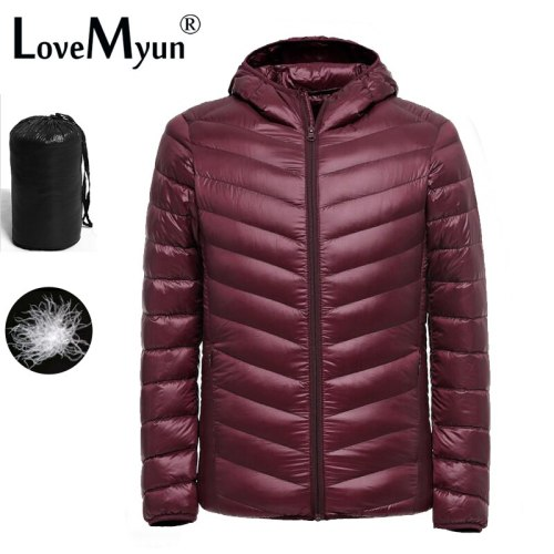 2019 New Ultralight Men 90% White Duck Down Jacket Winter  Duck Down Coat Waterproof Down Parkas Outerwear puffer jacket mens