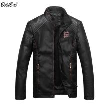 Bolubao Men Leather Suede Jacket Fashion Autumn Motorcycle PU Leather Male Winter Bomber Jackets Outerwear Faux Leather Coat