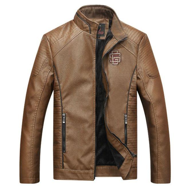 COMLION Faux Leather Jackets Men High Quality Classic Motorcycle Bike Cowboy Jacket Coat Male Plus Velvet Thick Coats M-5XL C46