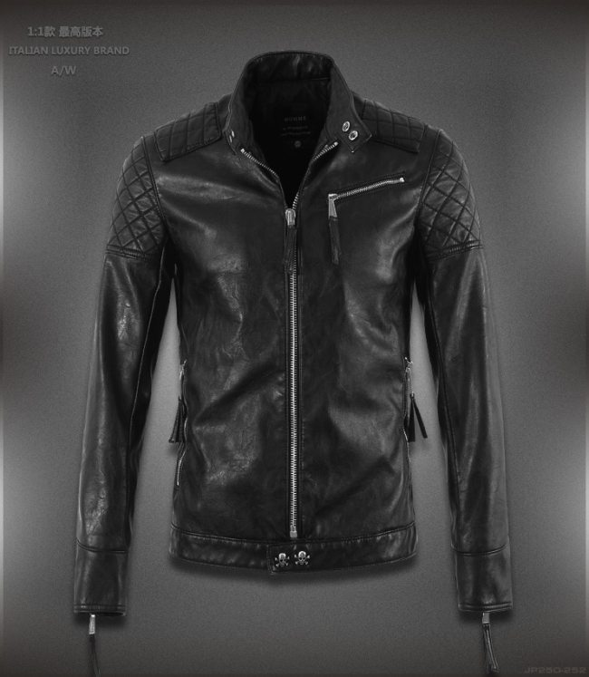 Hot ! High quality new Spring fashion leather jackets men, men's leather jacket brand motorcycle leather jackets skull M-5XL