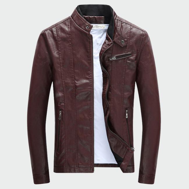 Men's PU Jackets Coats Autumn Winter Motorcycle Biker Faux Leather Jacket Men Clothes Thick Velvet Coats M-3XL ML007