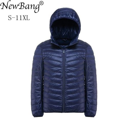 NewBang Plus 11XL 10XL 9XL 8XL Down Coat Male Ultra Light Down Jacket Men Windbreaker Feather Lightweigt Hooded Winter Parka