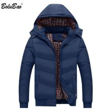 BOLUBAO Brand Men Hooded Parkas New Fashion Mens Quality Casual Parka Coats Male Windproof Winter Parkas Outerwear