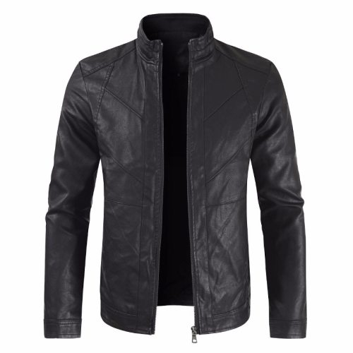 Men Autumn Fashion Casual Motorcycle PU Leather Jacket Coat Men Faux Leather Jaqueta De Couro Masculina Leather Coat Jackets Men