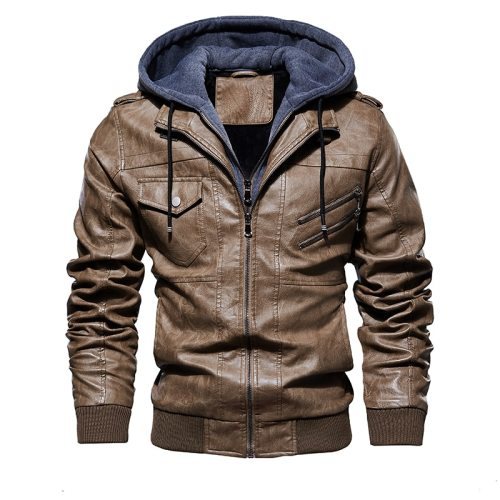 Fashion Motorcycle Leather Jacket Men   Autumn Winter Leather Jackets Dropshipping European size