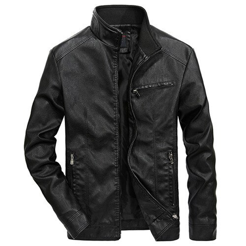 Men Motorcycle Leather Jackets 4XL 5XL Man Pu Streetwear Coat Mans Bomber Suits Windbreaker LBZ32