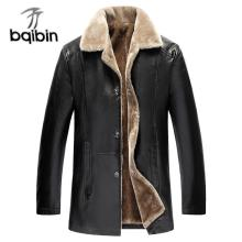 Winter Fur Leather Jacket Mens Plus Size 5XL Suede Leather Jackets Men Faux Fur Thick Warm Long Suede Jacket