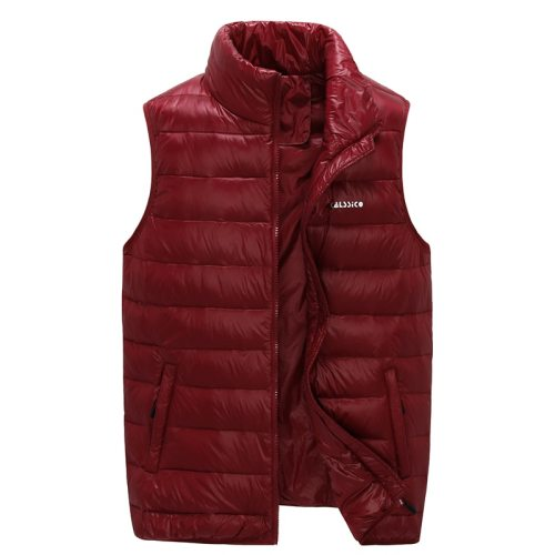 90% Winter Duck Down Men Sleeveless Jacket Men Winter Ultralight White Duck Down Vest Reversible Windproof Warm Waistcoat G888