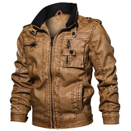 2019 Jackets Men Slim Fit Casual Outwear Bomber Jacket Winderbreaker PU Motorcycle Leather Jackets male new fur coat 6XL 7XL