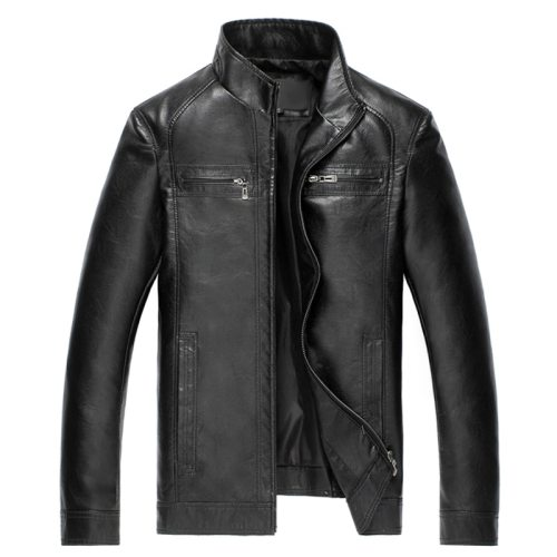 Luxury Fashion Men's Leather Jacket High Quality Leather Brown Men Jacket Faux Leather Men Jacket And Coat jaqueta de couro 2018