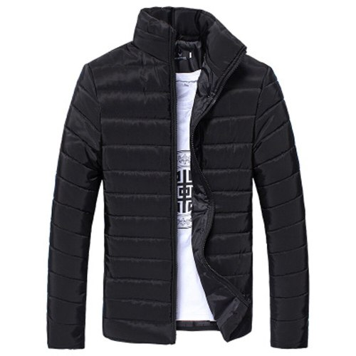 2018 Winter Men Down Coat Cotton Stand Zipper Warm Thick Coat Jacket Feather Down Jacket for Men Thin Light Casual Coat