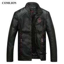 COMLION Faux Leather Jackets Men High Quality Classic Motorcycle Bike Cowboy Jacket Coat Male Plus Velvet Thick Coats M-5XL C46