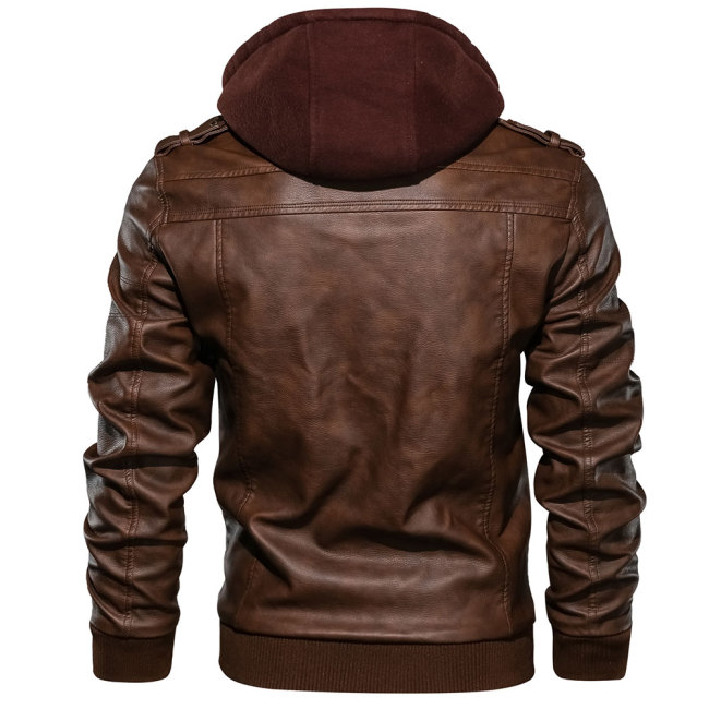 Men's Leather Jackets Autumn New Casual Motorcycle PU Jacket Leather Coats European size Jackets Drop Shipping