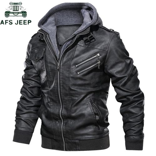 Dropshipping Oblique Zipper Motorcycle Leather Jacket Men Brand Military Autumn Men Pu Leather Jackets Coat European size S-XXXL