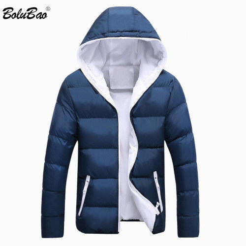 BOLUBAO Brand Winter Men Parkas Coat New Men's Casual Fashion Parkas Male Simple Solid Color Hooded Parka Jackets Clothing