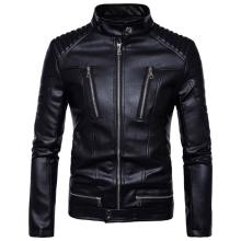 AOWOFS Newest British Motorcycle Leather Jacket Men Classic Design Multi-Zippers Biker Jackets Male Bomber Leather Jackets Coats