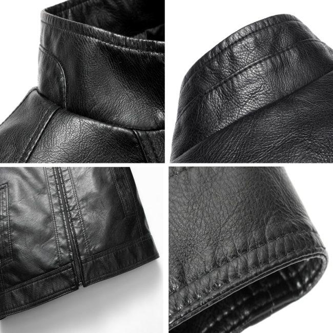 Luxury Fashion Men's Leather Jacket High Quality Leather Brown Men Jacket Faux Leather Men Jacket And Coat jaqueta de couro 2018