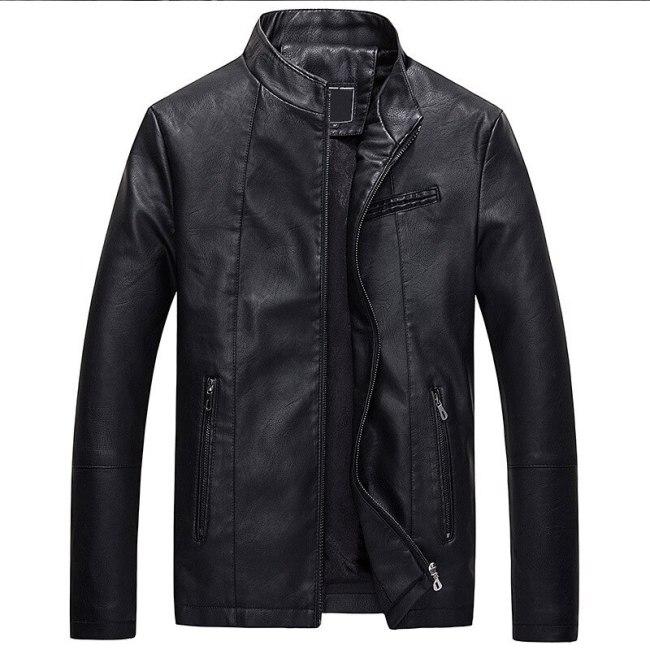 Mountainskin Mens Leather Jackets Autumn Winter Thick Coats Men Velvet Faux Biker Motorcycle Jacket Warm Male Outerwear SA592