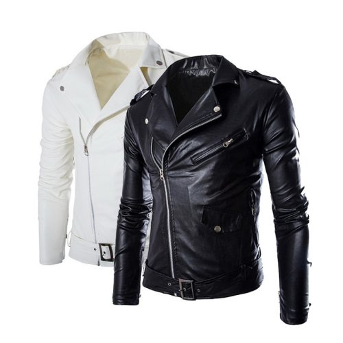VERTVIE New Autumn Men's PU Leather Jacket For Men Fitness Fashion Male Suede Jacket Casaco Masculino Casual Coat Male Clothing