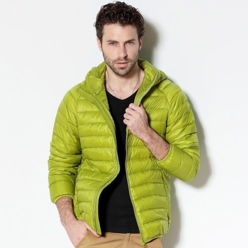 Men White Duck Down Jacket 2019 New Portable Hooded Down Coat Ultralight Men Winter Coat Warm Thermal Down Parkas 4XL 5XL 6XL