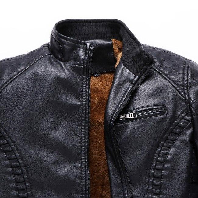 BOLUBAO New Winter Men Leather Jackets Men Motorcycle Keep Warm Leather jackets Fashion Brand Men's Fleece Leather Jacket Coat