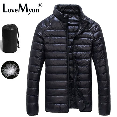 2019 Autumn Winter puffer Duck Down Jacket Ultra light Men 90% Coat Waterproof Down Parkas  Fashion mens collar Outerwear coat
