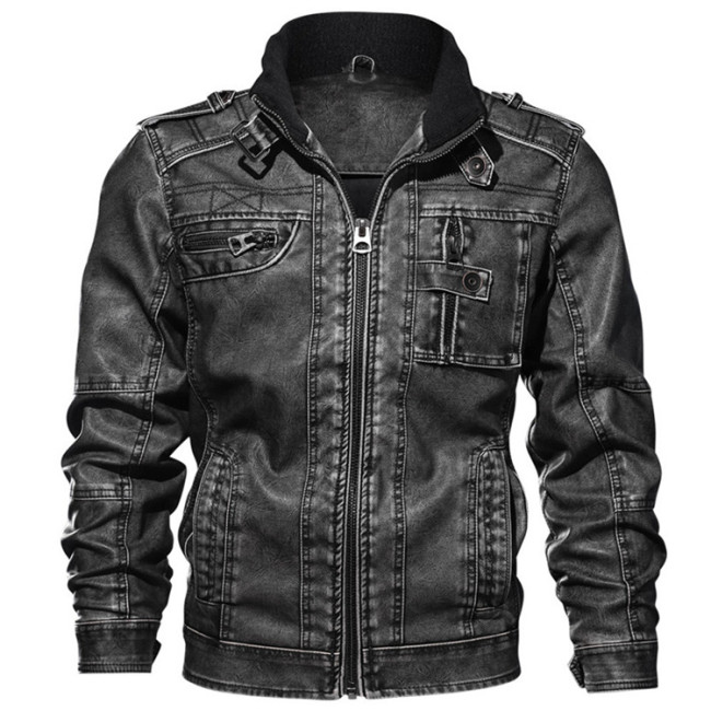 Mountainskin 7XL Men's PU Jacket Leather Coat Autumn Slim Fit Faux Leather Motorcycle Jackets Male Coats Brand Clothing SA591