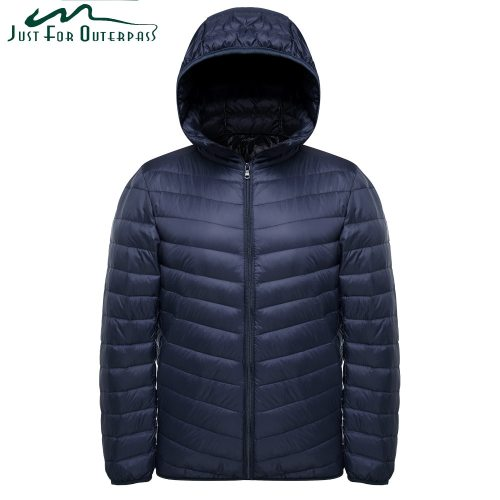 2019 New Fashion Ultra Light Down Jacket Men Spring Autumn Hooded Waterproof Down Jackets Male Casual Winter Warm Down Coat