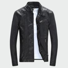Men's PU Jackets Coats Autumn Winter Motorcycle Biker Faux Leather Jacket Men Clothes Thick Velvet Coats M-3XL ML007