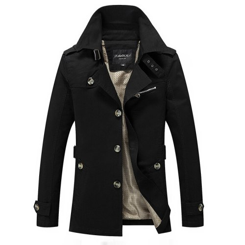 Brand New Men's Casual Trench Coat Wind Breaker Fashion Designer Plus Size Casual Trench For Men Pull Homme Outwear 5XL AF1306