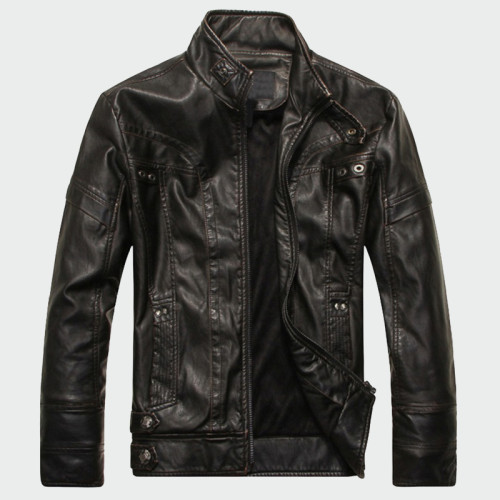 Mens Leather Jackets High Quality Classic Motorcycle Bike Cowboy Jacket Male Plus Velvet Thick Coats Brand Clothing 5XL ML001