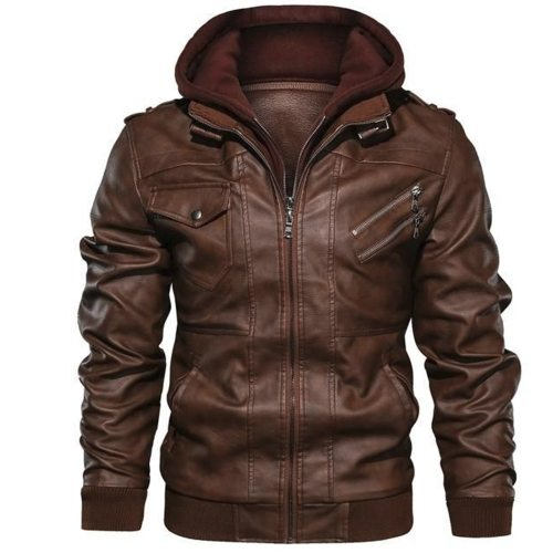 Mens Leather Jackets High Quality Classic Motorcycle Jacket Male Plus faux leather jacket men 2019 spring