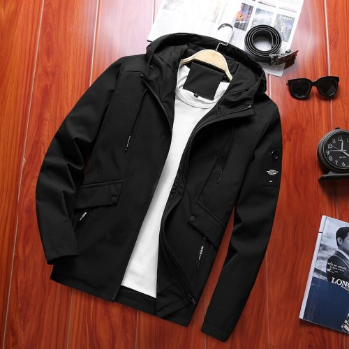 Dropshipping Spring New Men's Windebreaker Trench Bomber Jacket Male Casual Streetwear Pilot Coat US Size