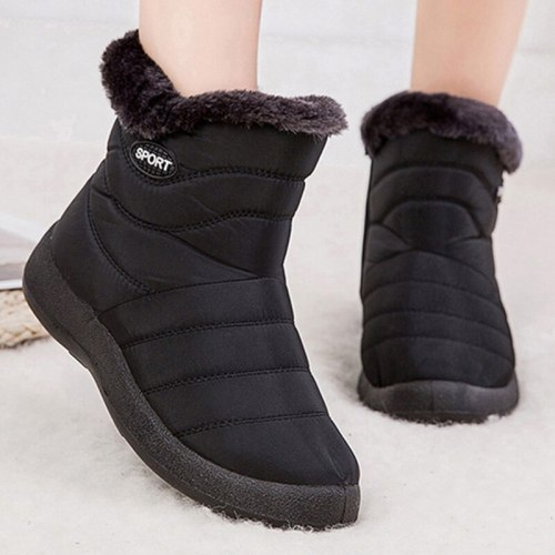 Snow Boots Women's Boots Non-slip Women Winter Boots Fur Warm Ankle Boots For Women Down waterproof Booties Botas Mujer 40 41 42