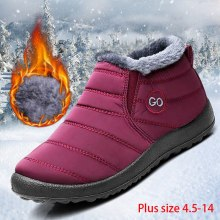 Women snow boots 2019 new waterproof winter boots women shoes solid casual shoes woman keep warm plush winter shoes women boots