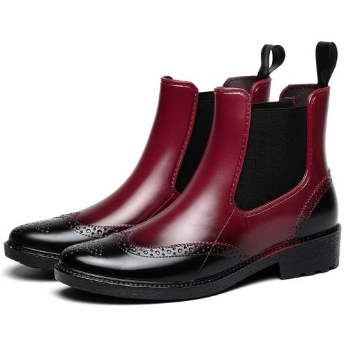 Autumn Rubber Shoes Women Rain Boots Chelsea Boots Waterproof Ankle Boots Girl Flat Platform boots Spring Booties dames laarzen