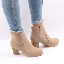 Hot Autumn Winter Women Boots Solid European Ladies shoes Martin boots Suede Leather ankle boots with thick scrub size 35-41