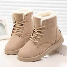 Women Boots Winter Warm Snow Boots Women Faux Suede Ankle Boots For Female Winter Shoes Botas Mujer Plush Shoes