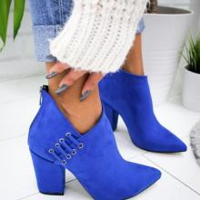 Adisputent New Women Shoes Ankle Sexy  Boots Short Boots High-heel Fashion Pointed Europe Shoes Woman Plus Size 35-43