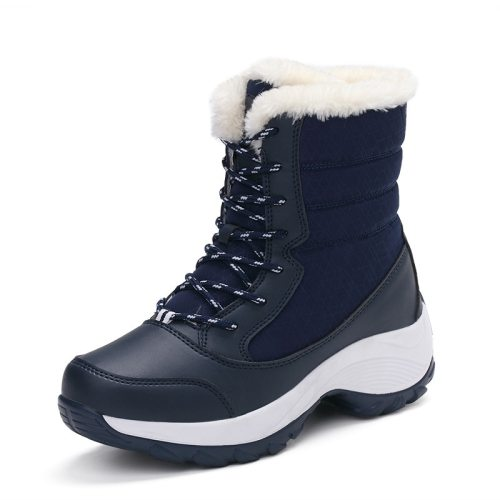 2019 Winter New Plus Velvet High-top Women's Shoes Students With Versatile Waterproof Snow Boots Women's Tide Cotton Shoes