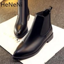 2019 Winter Boots Women Ankle Boots High Quality Pointed toe Ladies Boots Leather Fashion Boots Size 36-40