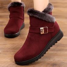 Suede sneakers women snow boots 2019 solid flat with plush warm snow boots women zipper casual shoes woman winter ankle boots