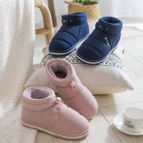 Ankle Boots Women Plush House Shoes Warm Winter Snow Platform Boots Ladies Indoor Causal Unisex Botas Feminina 2019 Plus Size
